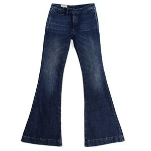 Polo Ralph Lauren Womens Denim Whisker Wash Flare