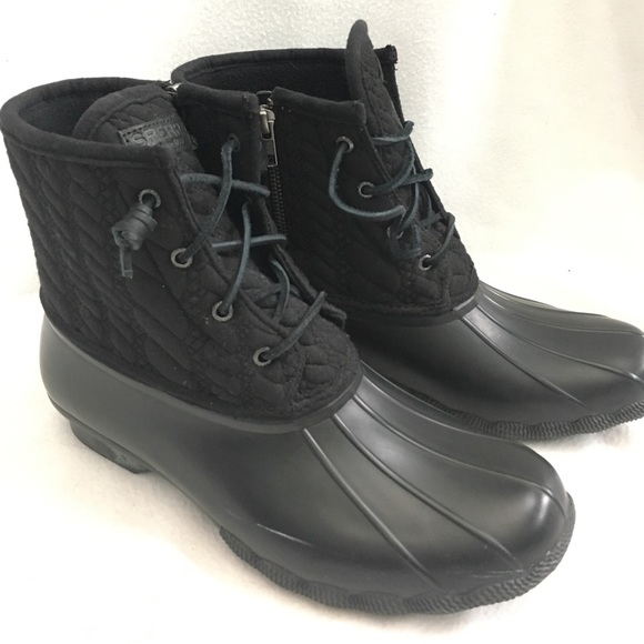 Sperry All Black Quilted Duck Boots