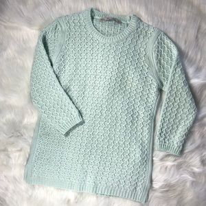 ZARA Knit turquoise 3/4th sleeve knit cozy sweater