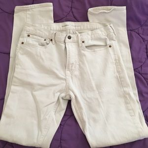 34X34 white denim slim jeans