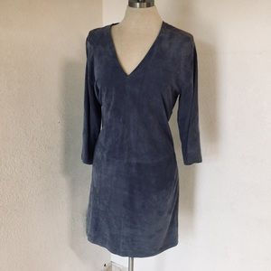 Vince periwinkle lamb leather blue dress