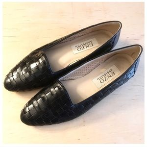 Enzo Angiolini Leather Woven Flats, Made in Brazil