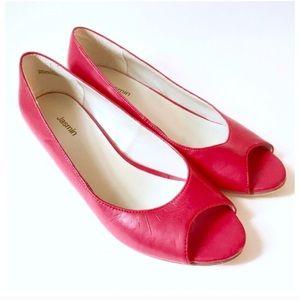 Vintage Peep Toe Wedges by Jasmin, Red, 7M