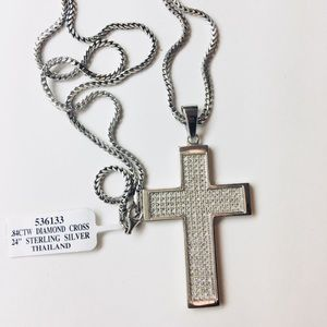 Jewelry - NEW Custom Diamond Cross Necklace .84 Carat