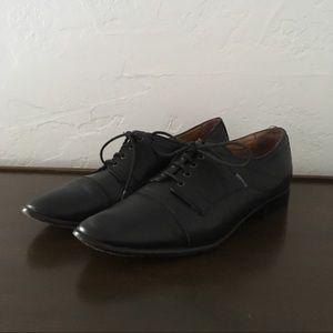 Corso Como Black Leather Oxfords // Sz 9.5
