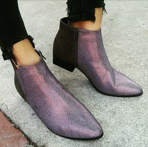 🆕//The Mazey// Purple/silver distressed Bootie