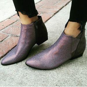 LAST PAIR!!//The Mazey// Purple/silver Bootie