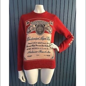 Urban Outfitters Budweiser Crewneck Party Sweater
