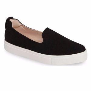 Topshop Temp Black Slip-on Platform Sneaker Sz 6.5