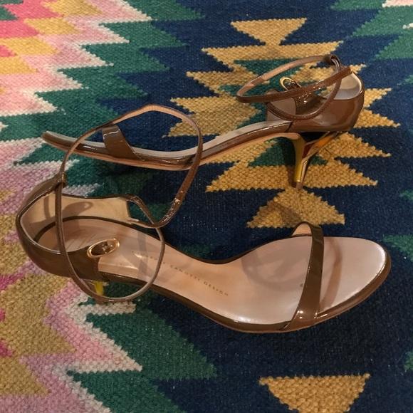 ac7e9609f4620 Giuseppe Zanotti Shoes - AUTH Vintage Giuseppe Zanotti Kitten Heel Sandals