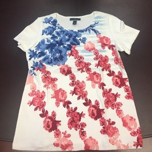 White, Red and Blue T-shirt