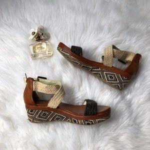 Dolce VIta Small Aztec print wedge sandal