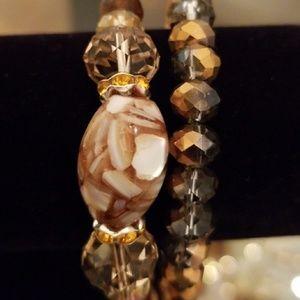 Handmade stone / crystal bracelets