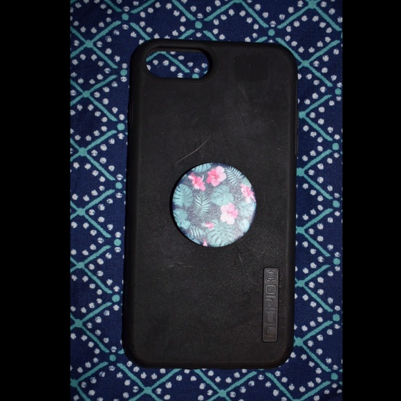 super popular ce76a 8ddbe Incipio black case with floral popsocket