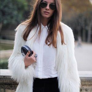 Jackets & Blazers - 💞Luxury Pearl Faux Fur Fuzzy Shaggy Jacket,4-10