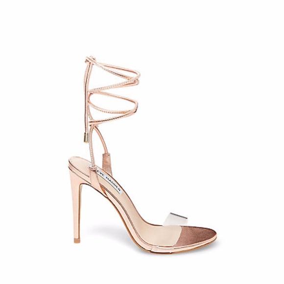 2215432a295 Steve Madden Lyla Womens Rose Gold Sandal Heel