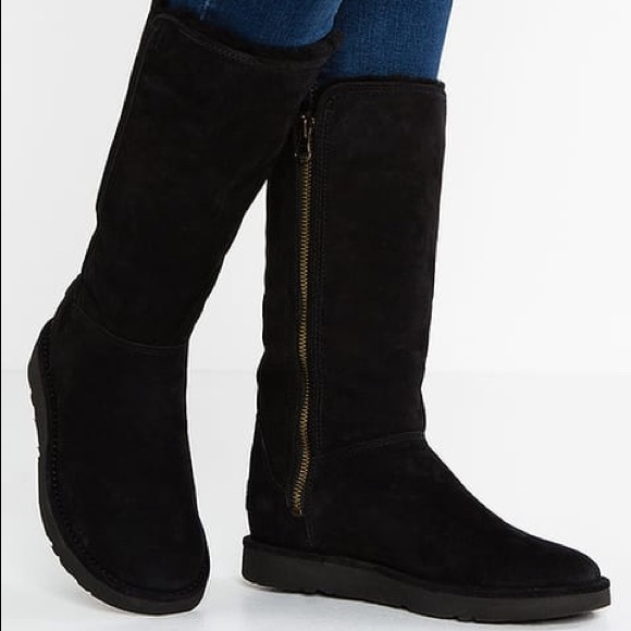 ugg navy tall boots