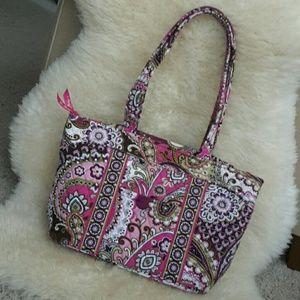 Vera Bradley Very Berry Paisley Mandy Bag