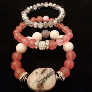 Handmade stone bracelets