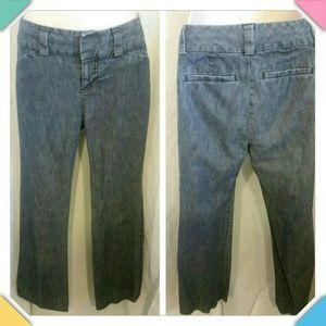 Gap Distressed Denim Wide Leg Trousers
