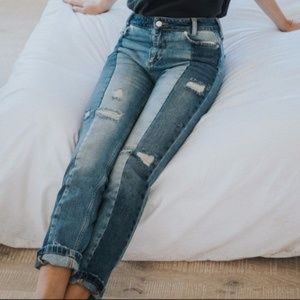 Free people patchwork Jean