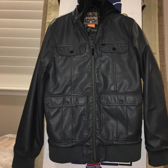 81b0b7d9d24d Dravus Other - Hooded faux leather jacket