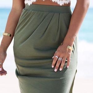 [Sabo Skirt] Strato Midi Skirt