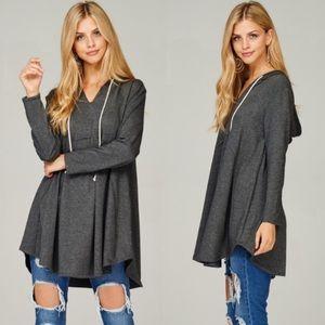 ❤️NEW IN❤️ Cute Charcoal Winter Hoodie Look