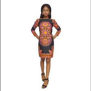 3491af41af7b2 African print short dress.  27  75. Size  10 · Ankara
