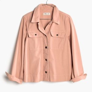 Madewell northward cropped army jacket in blush