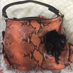 Just Cavalli snake skin style bag