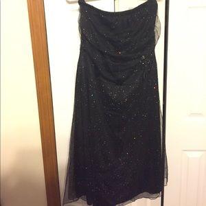 Torrid Size 14 strapless dress with sheer glitter