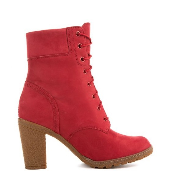 8efb8dd227f4 Timberland Women s Low Heel Boot Glancy 6 IN Red