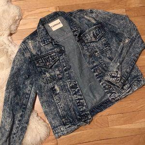 Acid Wash Denim Jacket
