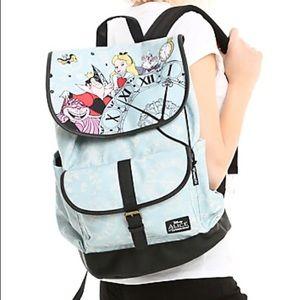 New~ Disney Alice In Wonderland Slouchy Backpack