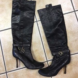 High-end Christian Dior lambskin leather boots