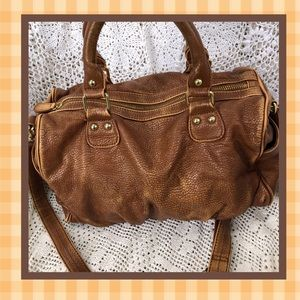 Steve Madden Distressed Look Faux Leather Satchel