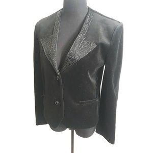 Vintage velvet blazer jacket with beads