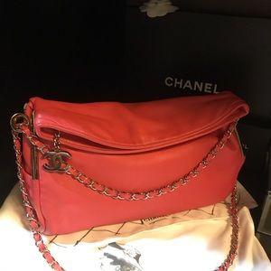 e7feb86e7848cd ... Chanel Coral Pink Lambskin Ultimate Soft Flap Bag ...