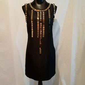 Tory Burch Silk Embellished Sequin LBD Dress