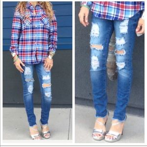 Denim - New with tag distressed jeans