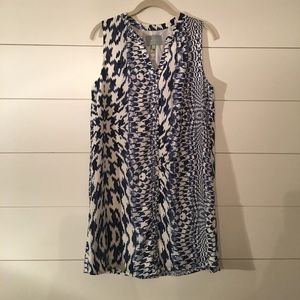 Blue and white button up sundress.