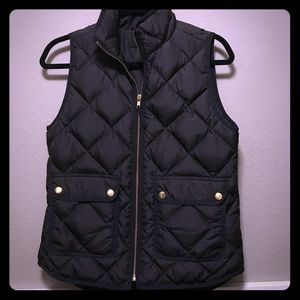 J.Crew black excursion vest in size xs