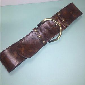 Accessories - Trendy Cognac Wide Belt