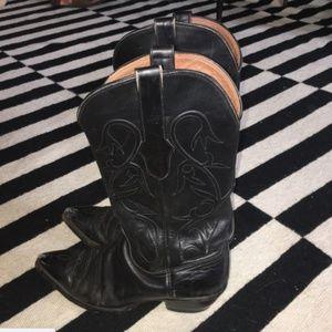 Black Jack Cowboy Boots 9B Leather Men's Western
