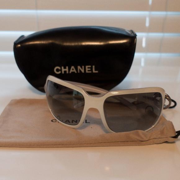 b6695db84f42 CHANEL Accessories - 100% Aunthetic Chanel White Sunglasses!
