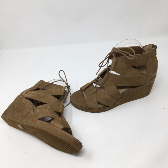 8e87921c2bb1 Eileen Fisher Dibs Wedge Gladiator Suede Sandal
