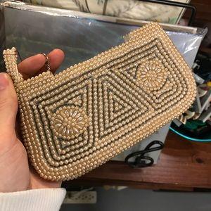 🦋Vintage Bauble Faux Pearl Zip Coin Wallet
