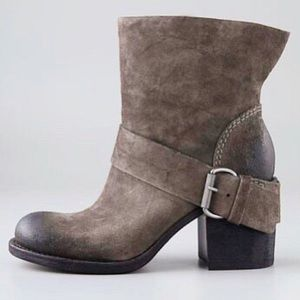 Vera Wang Lavender Label Round Toe Suede Booties