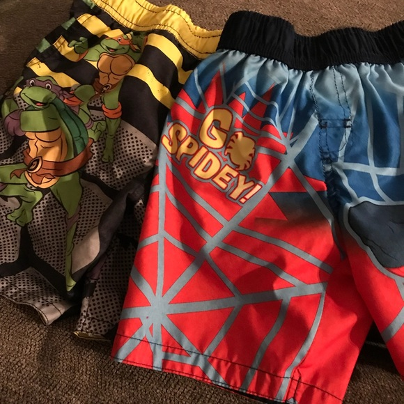 f12bd0105b Marvel Swim | Lot Of 2 Boys Bathing Suits Character | Poshmark